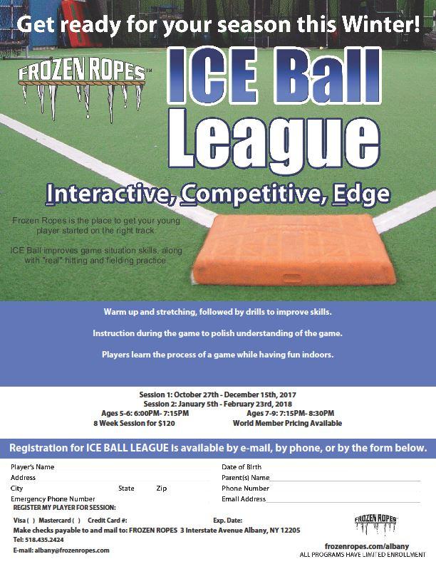 Ice Ball Frozen Ropes Albany Ny