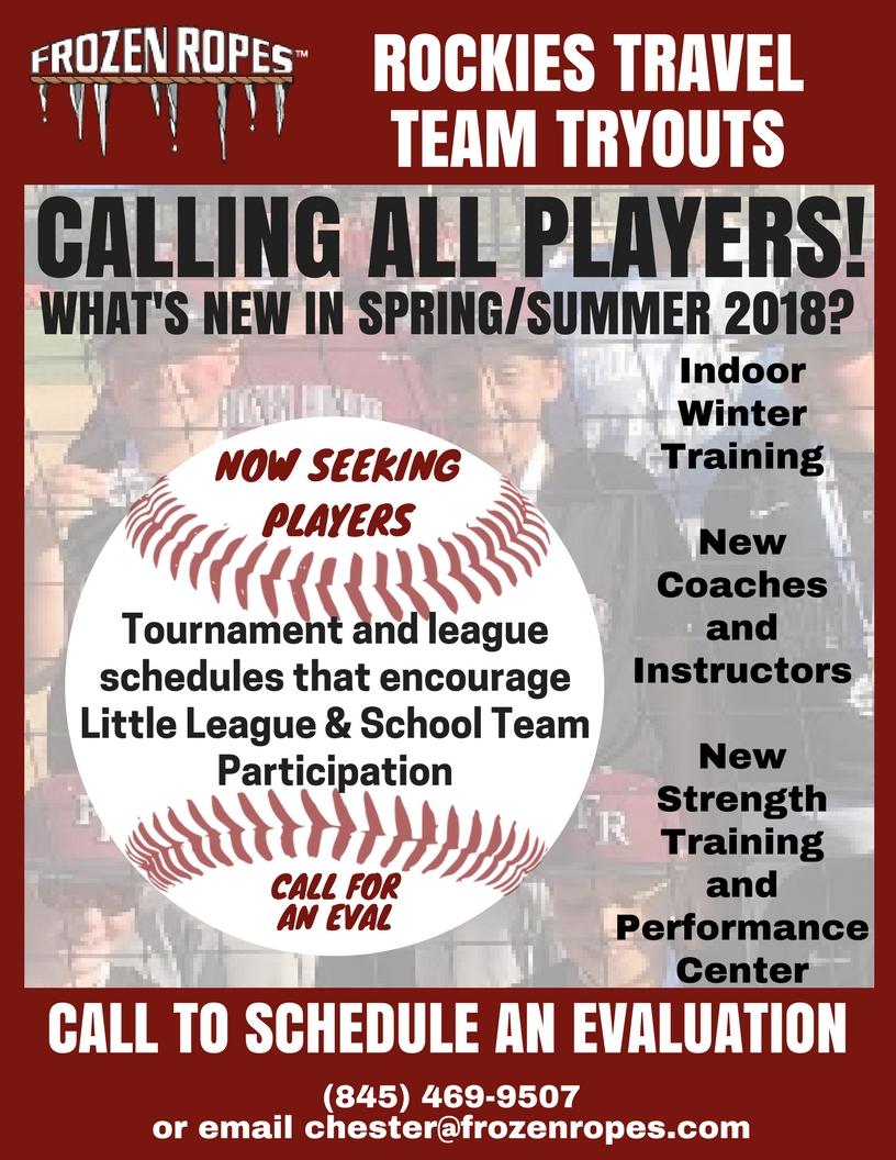 Baseball Tryout Reminder For Website Eval 1 Frozen