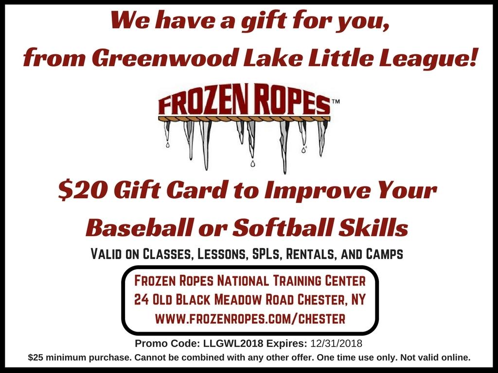 Greenwood Lake Little League 2018