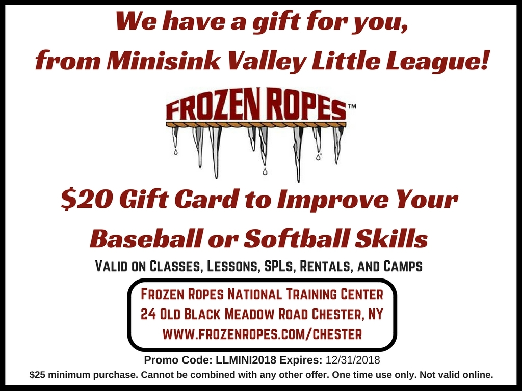 Minisink Valley Little League 2018 Frozen Ropes Chester Ny