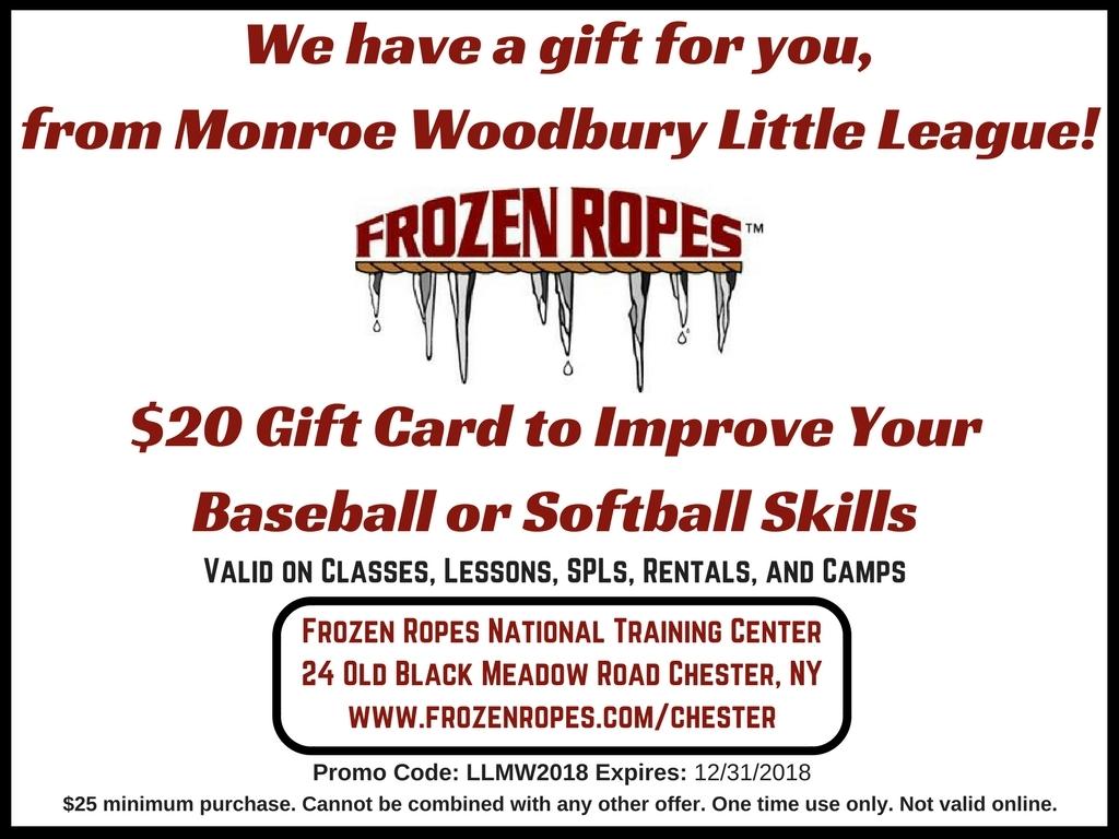 Monroe Woodbury Little League 2018