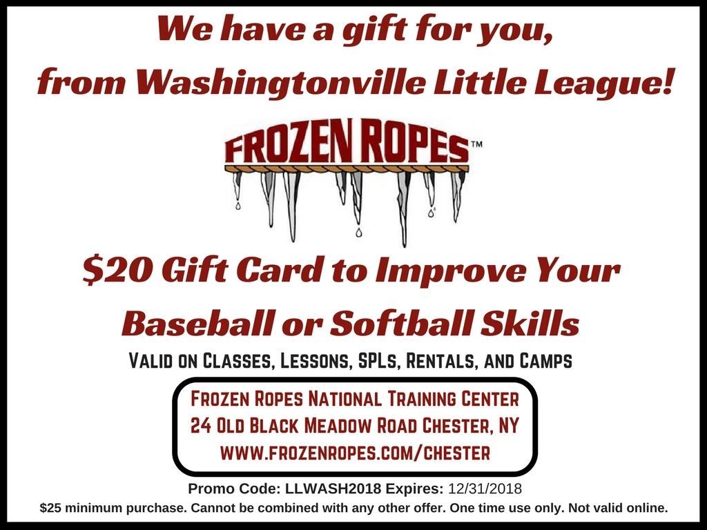Washingtonville Little League 2018