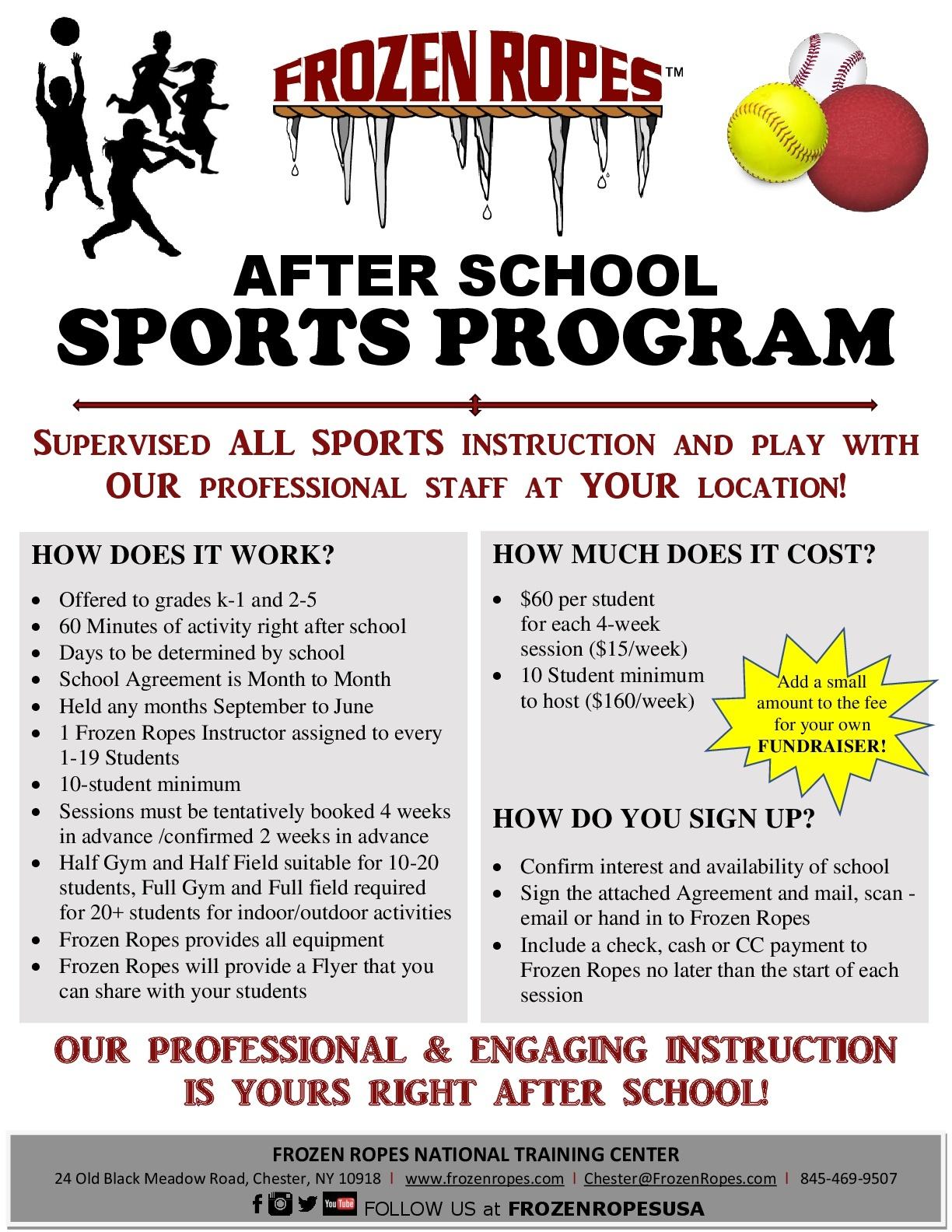 Info for Schools Flyer