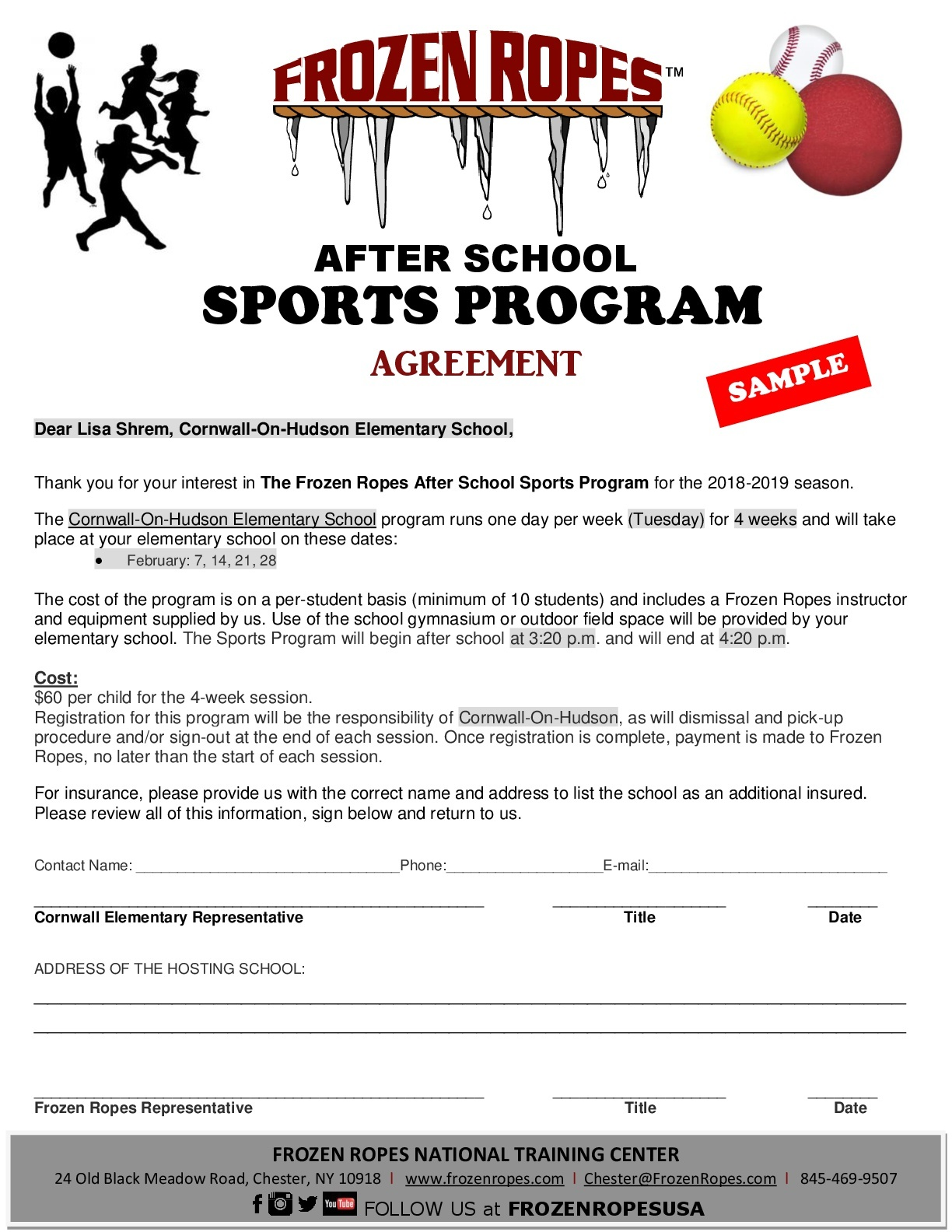 Sample Agreement Flyer