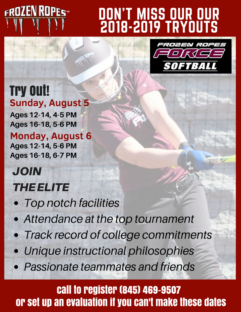 Frozen Ropes Softball Travel Team Tryouts 2018-2019 - Frozen Ropes