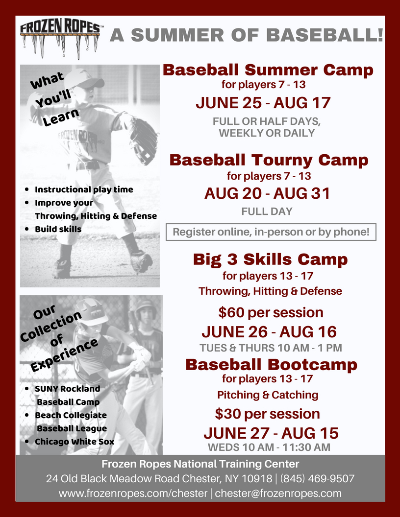 Frozen Ropes Baseball Camps