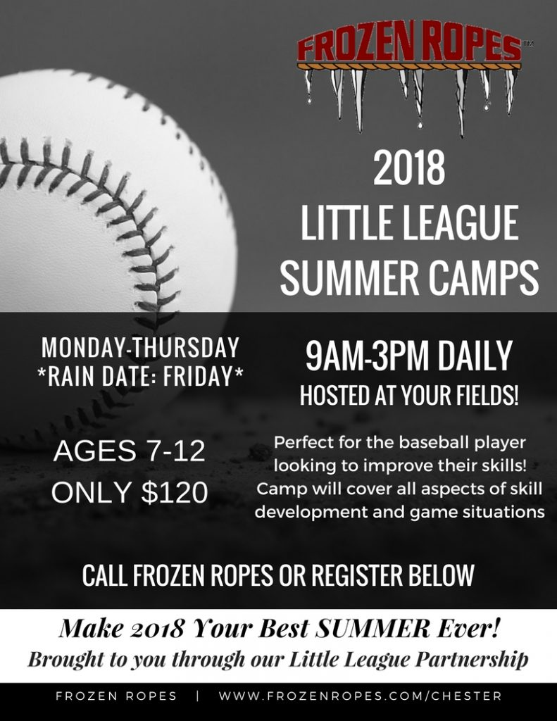 Frozen Ropes 2018 Off-Site Little League Summer Camps (Hosted at Your Fields!)