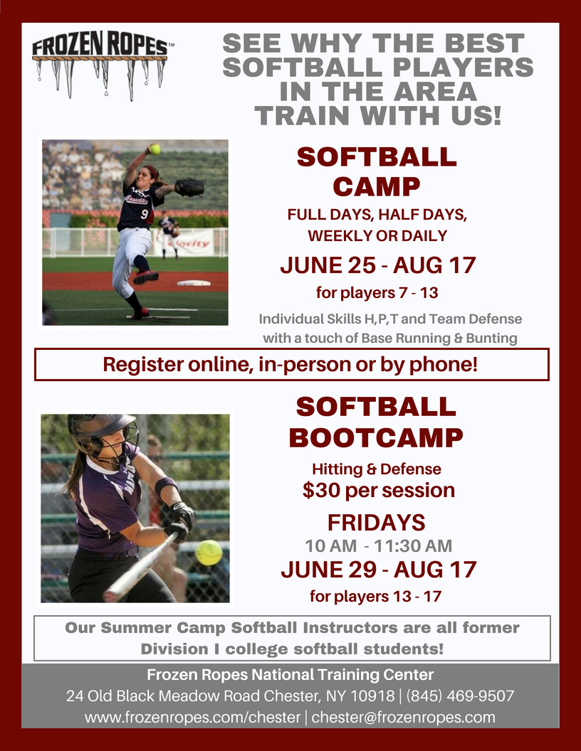 Frozen Ropes 2018 Softball Camp and Bootcamp
