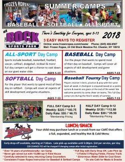 Frozen Ropes Baseball, Softball, All-Sport Summer 2018 Camps