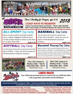 2018 Summer Camps Flyer