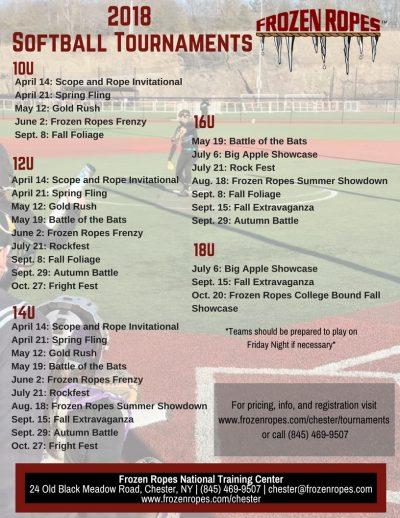 Frozen Ropes Baseball Tournaments