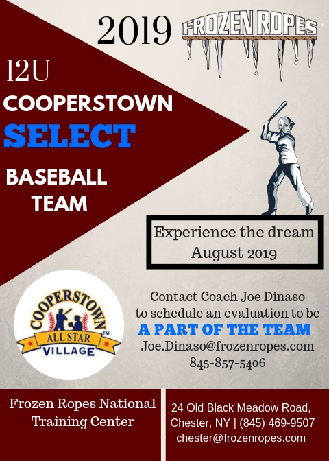 COOPERSTOWN 2019 Select Baseball Tryouts Frozen Ropes. Founder Tony Abbatine