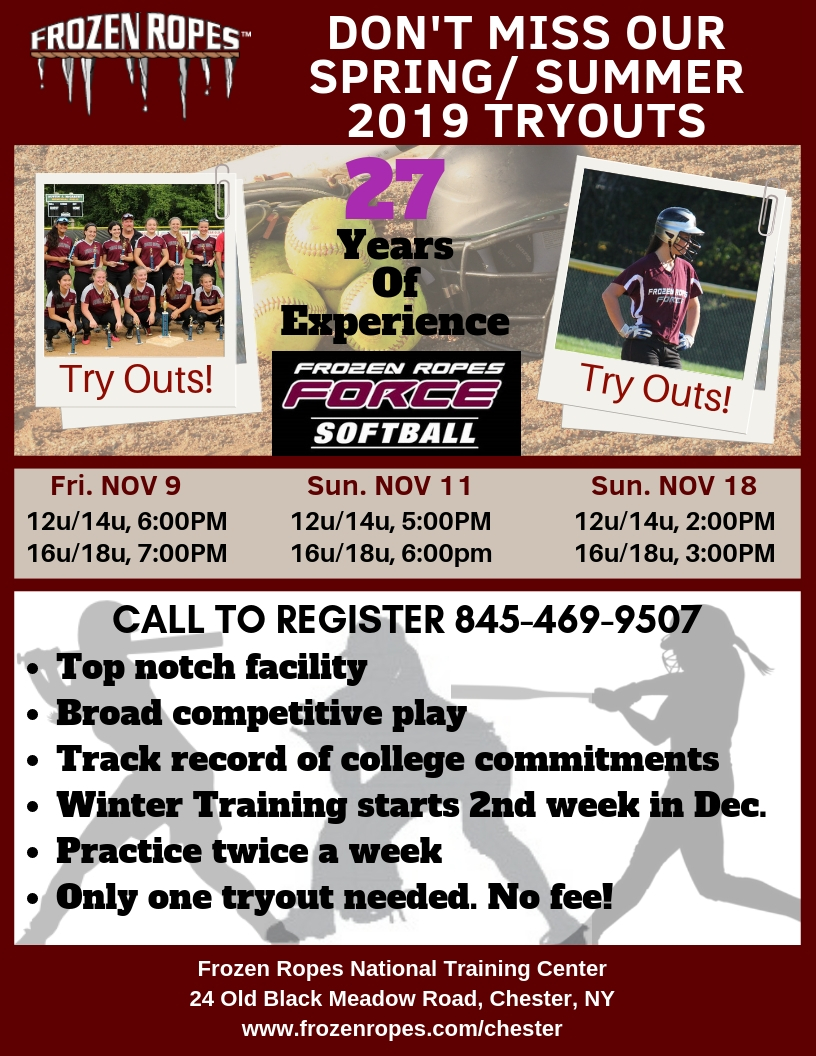 Frozen Ropes Softball Tryouts