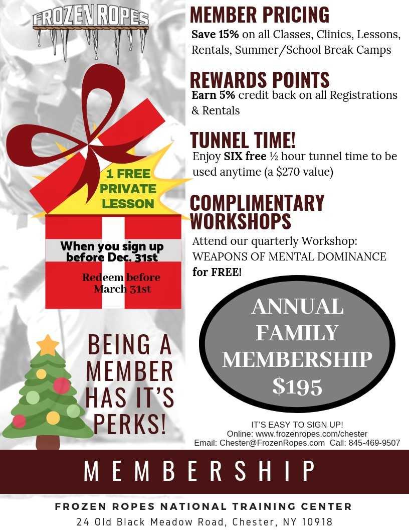 Frozen Ropes Holiday Membership. Founder Tony Abbatine