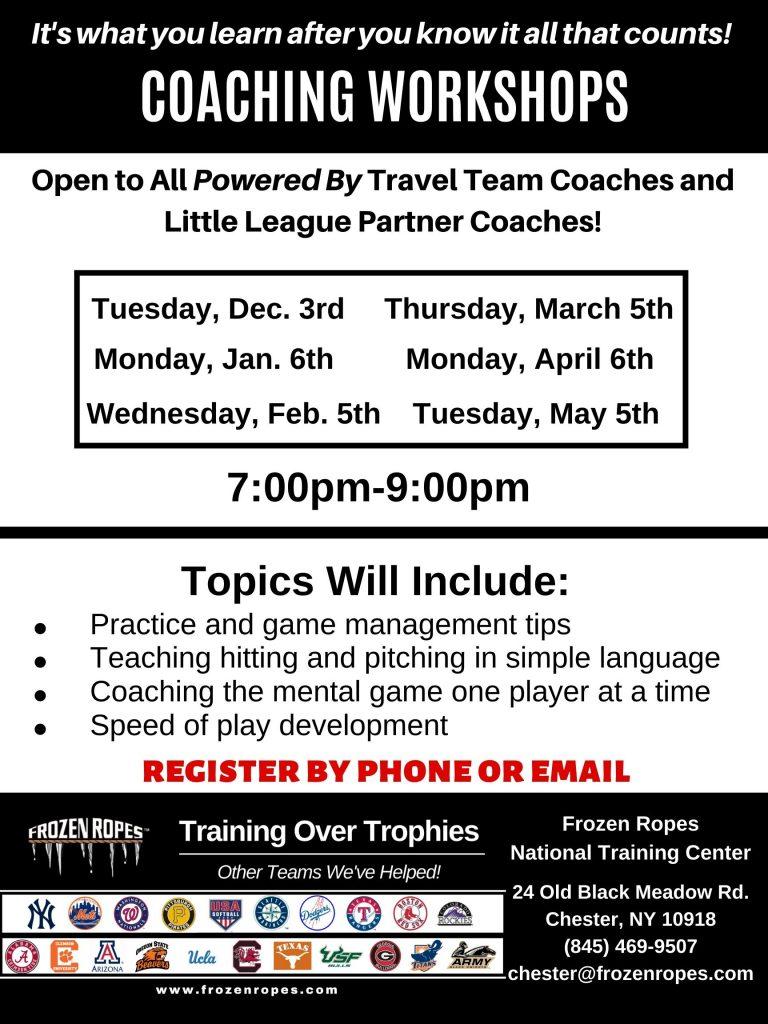 Frozen Ropes Coaching Clinics