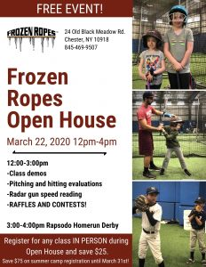 2020 Frozen Ropes Spring Open House