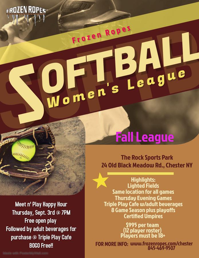 Frozen Ropes Women's Softball League 2020