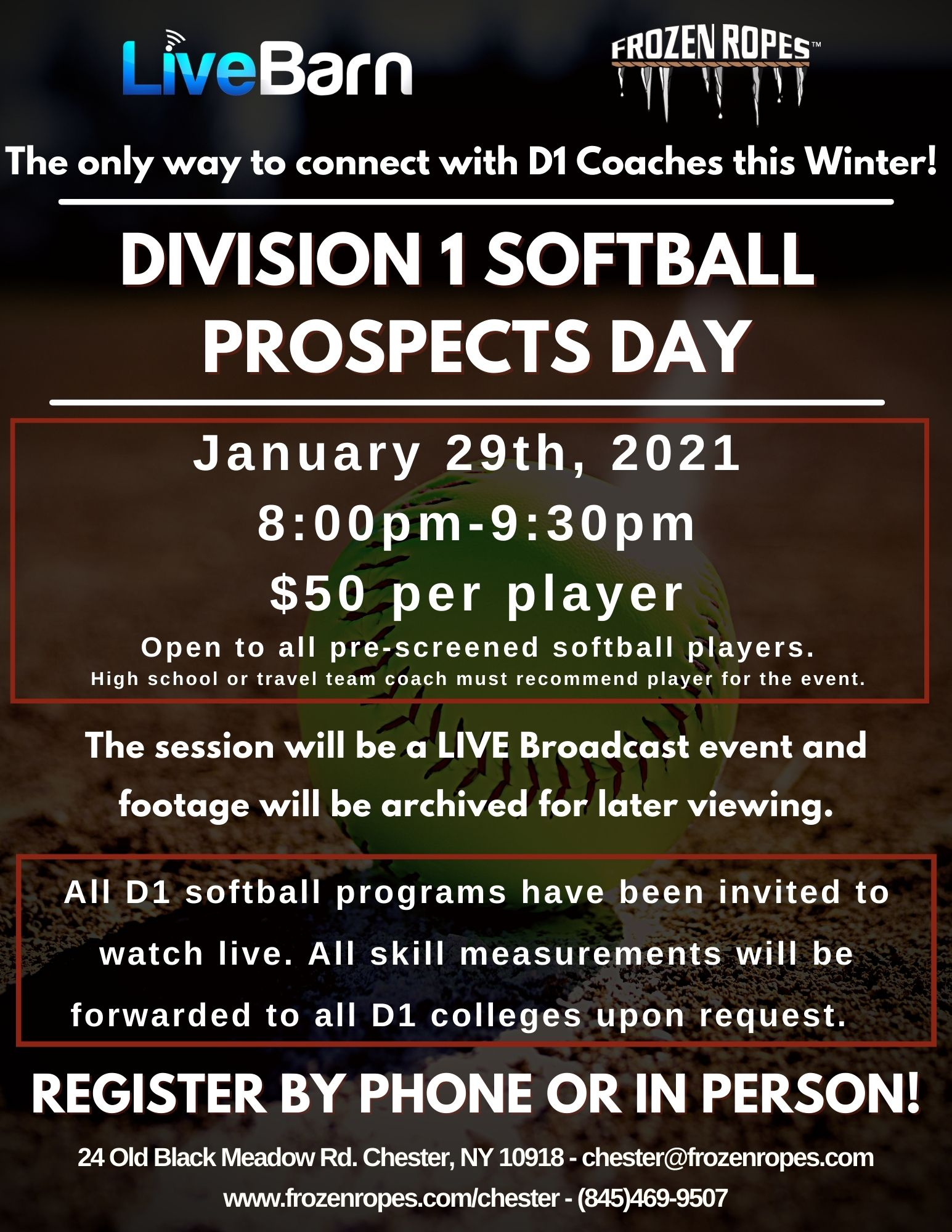 Frozen Ropes D1 Softball Prospects Day College