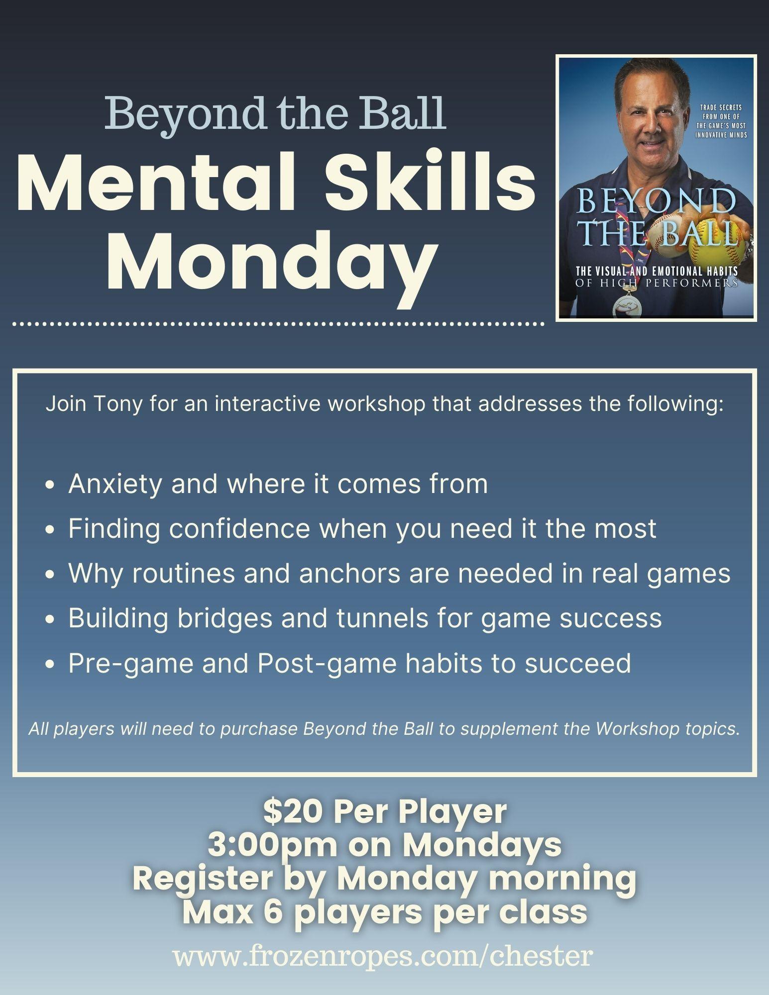 Mental Skills workshop with Tony Abbatine