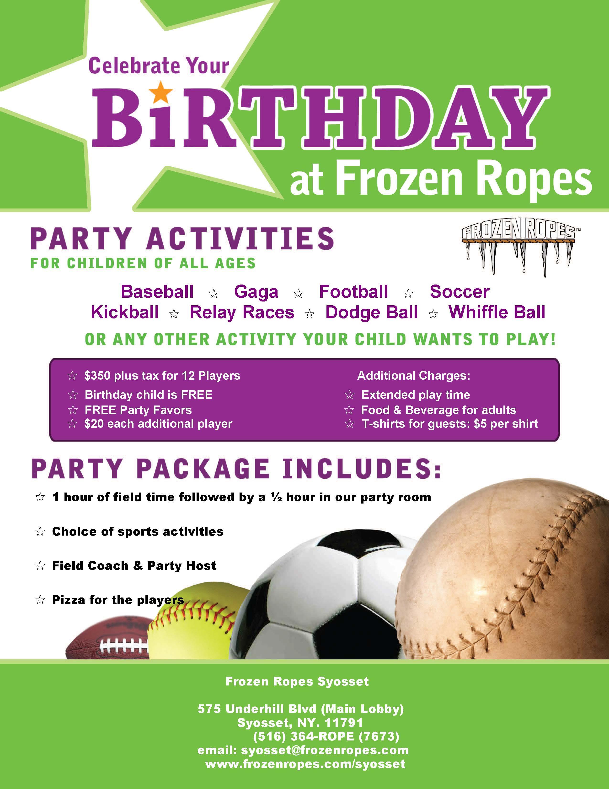 BirthdayPartyFlyer12315 Frozen Ropes Syosset NY